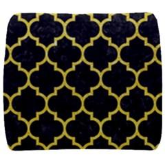 Tile1 Black Marble & Gold Glitter Back Support Cushion