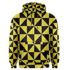 Triangle1 Black Marble & Gold Glitter Men s Pullover Hoodie