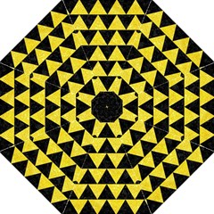 Triangle2 Black Marble & Gold Glitter Folding Umbrellas