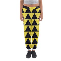 Triangle2 Black Marble & Gold Glitter Women s Jogger Sweatpants