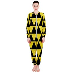 Triangle3 Black Marble & Gold Glitter Onepiece Jumpsuit (ladies)