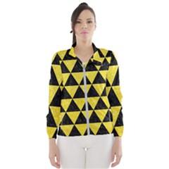 Triangle3 Black Marble & Gold Glitter Wind Breaker (women)