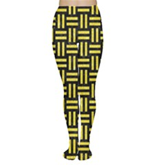 Woven1 Black Marble & Gold Glitter Women s Tights