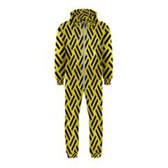 Woven2 Black Marble & Gold Glitter (r) Hooded Jumpsuit (kids)