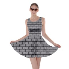 Brick1 Black Marble & Gray Colored Pencil (r) Skater Dress