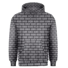Brick1 Black Marble & Gray Colored Pencil (r) Men s Pullover Hoodie