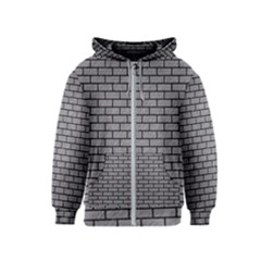 Brick1 Black Marble & Gray Colored Pencil (r) Kids  Zipper Hoodie