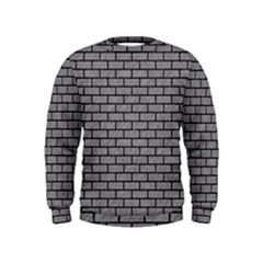 Brick1 Black Marble & Gray Colored Pencil (r) Kids  Sweatshirt