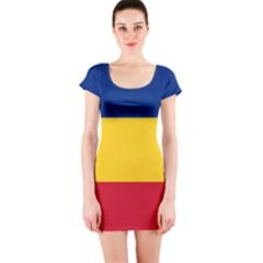 Gozarto Flag Short Sleeve Bodycon Dress