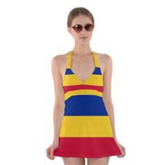 Gozarto Flag Halter Swimsuit Dress