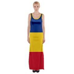 Gozarto Flag Maxi Thigh Split Dress