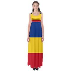 Gozarto Flag Empire Waist Maxi Dress