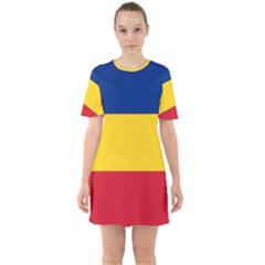 Gozarto Flag Sixties Short Sleeve Mini Dress
