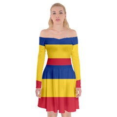 Gozarto Flag Off Shoulder Skater Dress