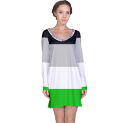 And Stripes Long Sleeve Nightdress