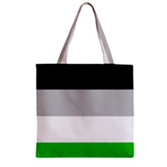 And Stripes Zipper Grocery Tote Bag