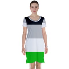 And Stripes Short Sleeve Nightdress
