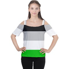 And Stripes Cutout Shoulder Tee