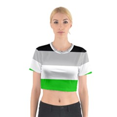 And Stripes Cotton Crop Top