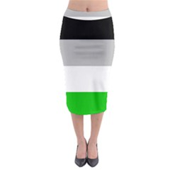 And Stripes Midi Pencil Skirt