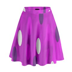 Pink Rain Drops Of Love! High Waist Skirt