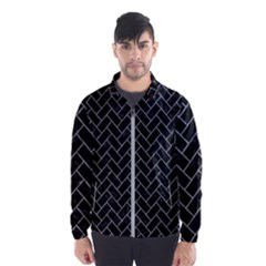 Brick2 Black Marble & Gray Colored Pencilbrick2 Black Marble & Gray Colored Pencil Wind Breaker (men)