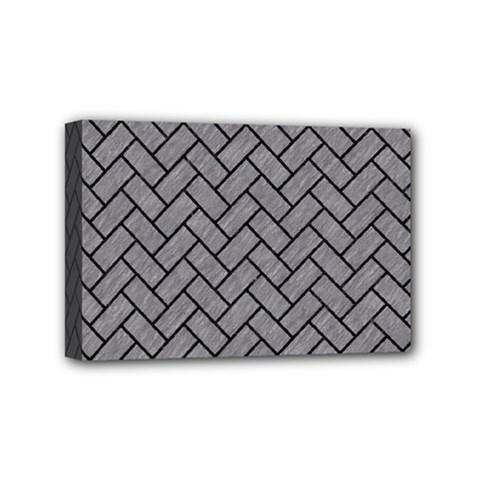 Brick2 Black Marble & Gray Colored Pencil (r) Mini Canvas 6  X 4