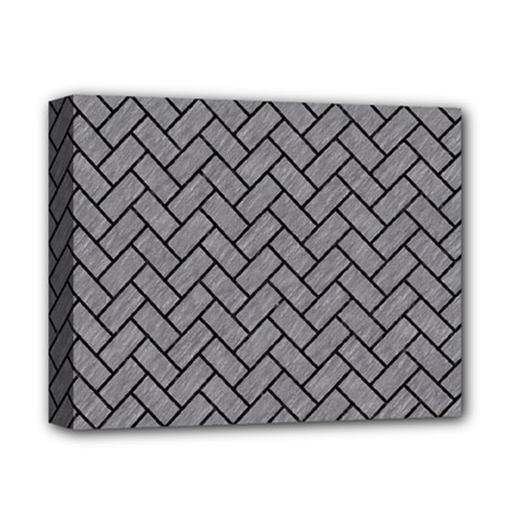 Brick2 Black Marble & Gray Colored Pencil (r) Deluxe Canvas 14  X 11