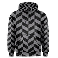 Chevron1 Black Marble & Gray Colored Pencil Men s Pullover Hoodie
