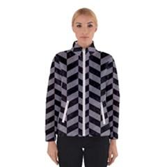 Chevron1 Black Marble & Gray Colored Pencil Winterwear