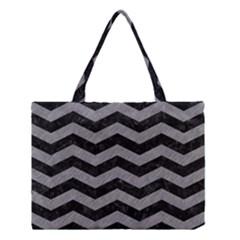 Chevron3 Black Marble & Gray Colored Pencil Medium Tote Bag