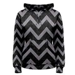 Chevron9 Black Marble & Gray Colored Pencil Women s Pullover Hoodie