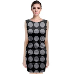 Circles1 Black Marble & Gray Colored Pencilcircle1 Black Marble & Gray Colored Pencil Classic Sleeveless Midi Dress