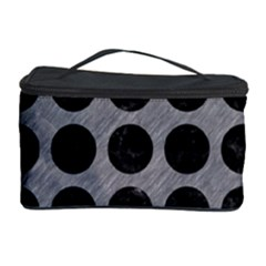 Circles1 Black Marble & Gray Colored Pencil (r) Cosmetic Storage Case