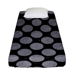 Circles2 Black Marble & Gray Colored Pencil Fitted Sheet (single Size)