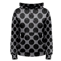 Circles2 Black Marble & Gray Colored Pencil (r) Women s Pullover Hoodie