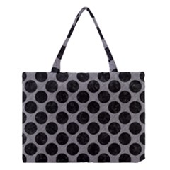 Circles2 Black Marble & Gray Colored Pencil (r) Medium Tote Bag