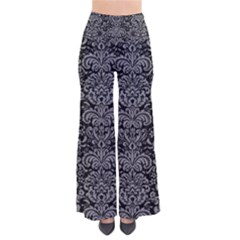 Damask2 Black Marble & Gray Colored Pencil Pants