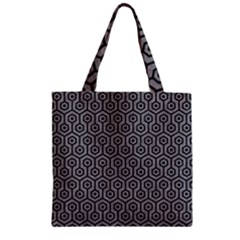 Hexagon1 Black Marble & Gray Colored Pencil (r) Zipper Grocery Tote Bag