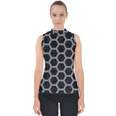 Hexagon2 Black Marble & Gray Colored Pencil Shell Top