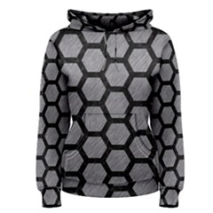 Hexagon2 Black Marble & Gray Colored Pencil (r) Women s Pullover Hoodie