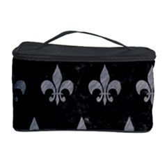 Royal1 Black Marble & Gray Colored Pencil (r) Cosmetic Storage Case
