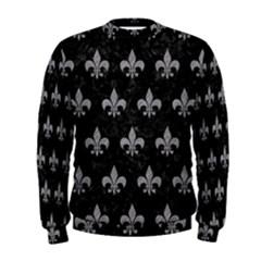 Royal1 Black Marble & Gray Colored Pencil (r) Men s Sweatshirt