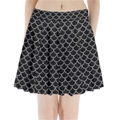 Scales1 Black Marble & Gray Colored Pencil Pleated Mini Skirt