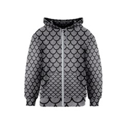 Scales1 Black Marble & Gray Colored Pencil (r) Kids  Zipper Hoodie