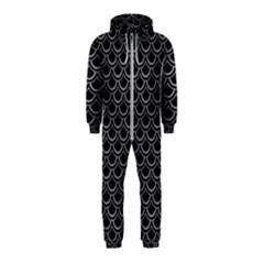 Scales2 Black Marble & Gray Colored Pencil Hooded Jumpsuit (kids)