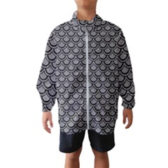 Scales2 Black Marble & Gray Colored Pencil (r) Wind Breaker (kids)