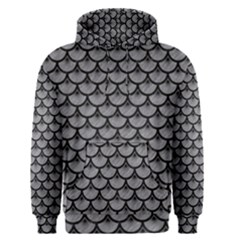 Scales3 Black Marble & Gray Colored Pencil (r) Men s Pullover Hoodie