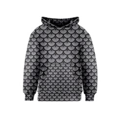 Scales3 Black Marble & Gray Colored Pencil (r) Kids  Pullover Hoodie