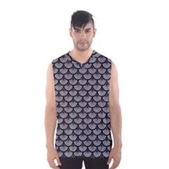 Scales3 Black Marble & Gray Colored Pencil (r) Men s Basketball Tank Top